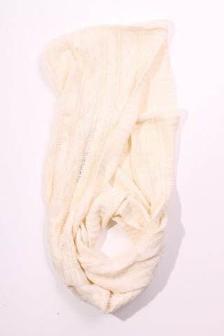 Kendall Hooded Scarf Ivory