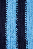 Kimberly Striped Fringe Neck Scarf Blue