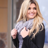Kristy Infinity Scarf Grey With Model