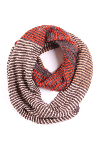 Lily Stripe Infinity Scarf Red