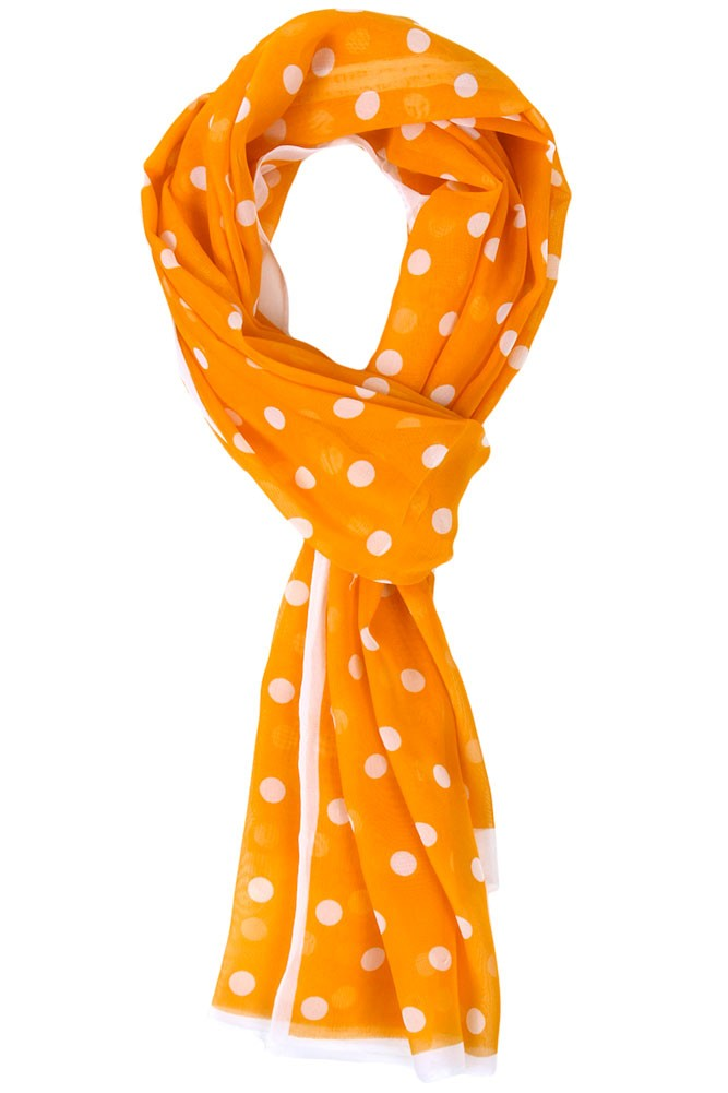 Lois Polka Dot Scarf Orange