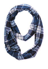 Mable Plaid Infinity Scarf