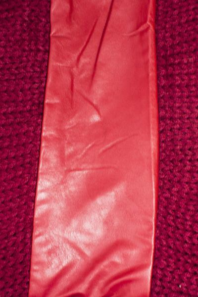 Marilyn Leather Circle Scarf Red