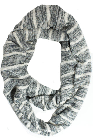 Mia Striped Scarf Grey