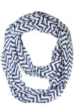 Mini Chevron Infinity Scarf Navy