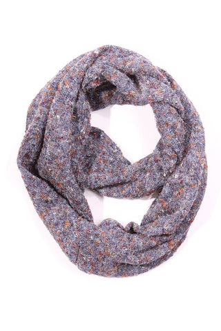 Piper Tweed Infinity Scarf Purple Multi