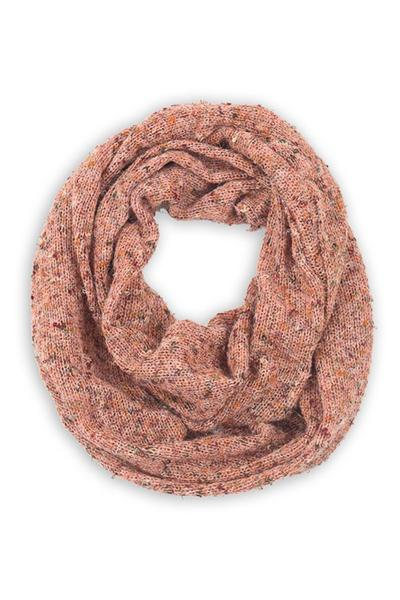 Piper Tweed Infinity Scarf Peach Multi