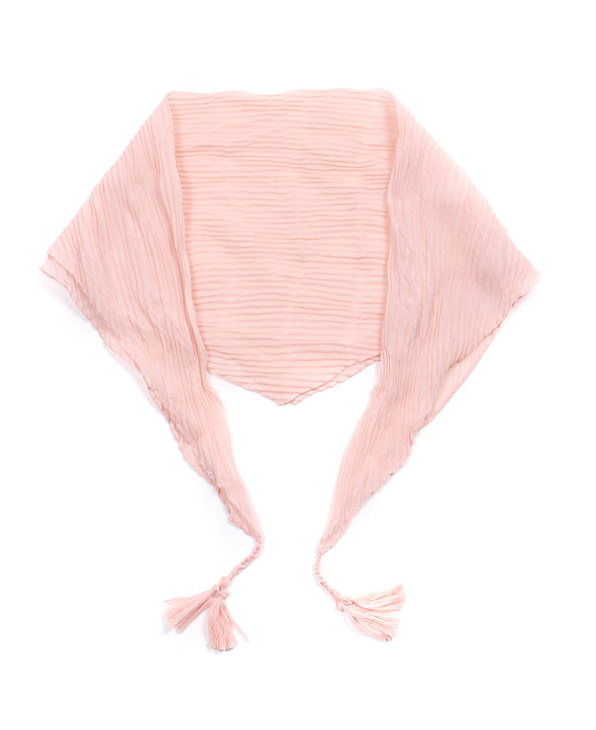 Randi Pleated Neckerchief with Tassels Peach