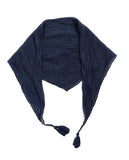 Randi Pleated Neckerchief with Tassels Navy