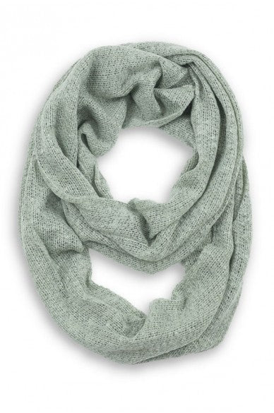 Rosemary Skinny Knit Infinity Scarf Sage