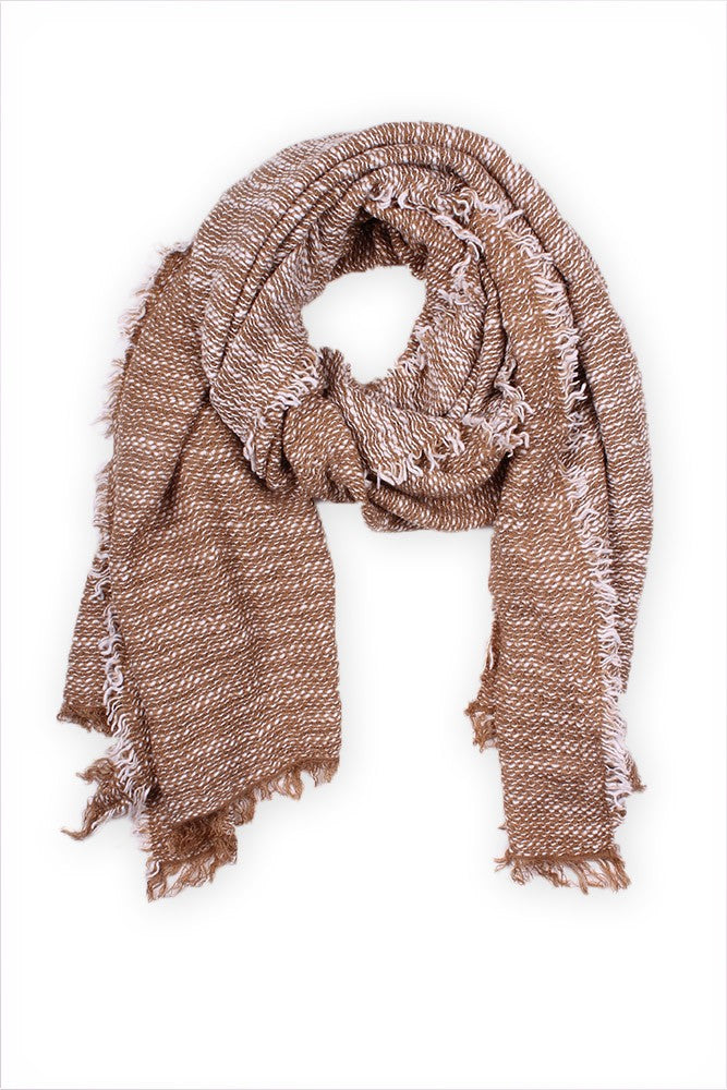 Rosey Blanket Scarf Taupe