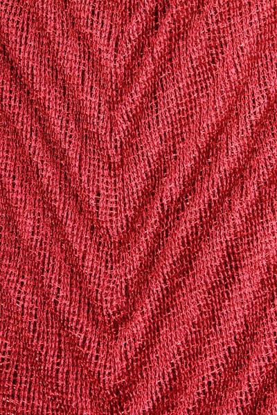 Shannon Pleated Infinity Scarf Red