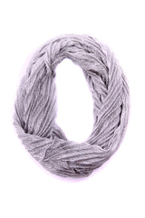 Shannon Pleated Infinity Scarf