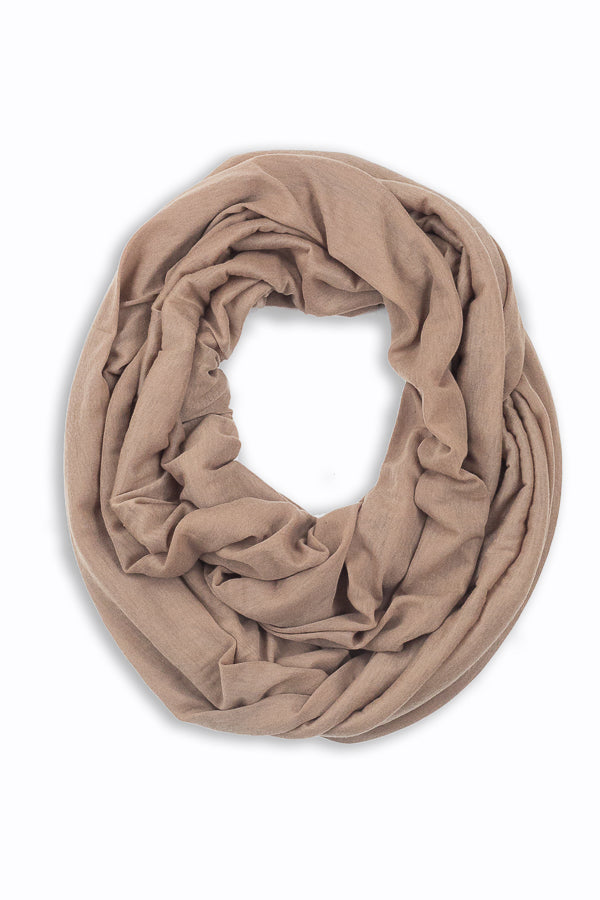 Shirley Soft Jersey Infinity Scarf Camel