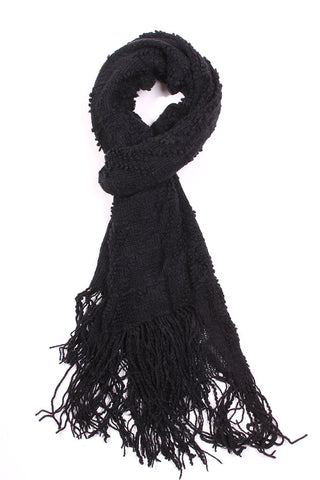 Sonya Knit Neck Scarf-Black