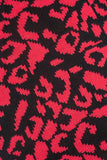Susie Knit Leopard Scarf Red