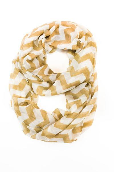 Tori Chevron Scarf Tan