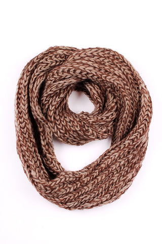 Brown Abbie Infinity Scarf