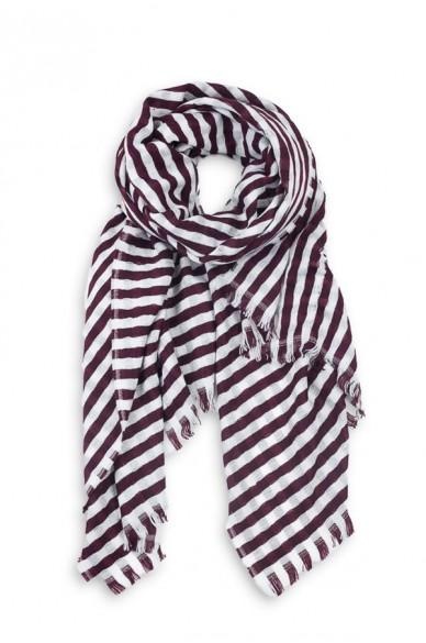 Striped Donna Scarf Burgundy