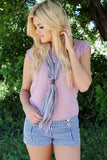 Western Knot Scarf Grey With Model