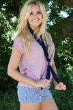 Western Knot Scarf Navy With Model