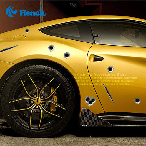 Car Styling 3D Fake Bullet Hole Gun Shots Decals