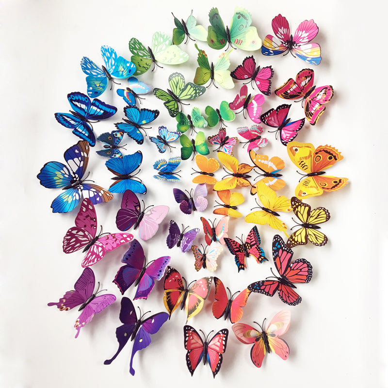 72pc Butterflies Wall Art Decals For Kids Room