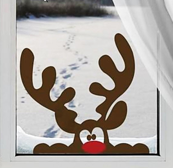 JiuBai® Christmas Reindeer Wall Decal, 40*38