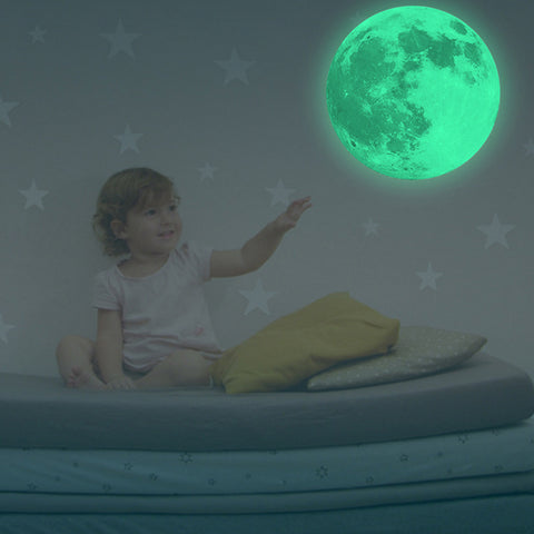 Luminous Art Mural Wall Sticker Moon