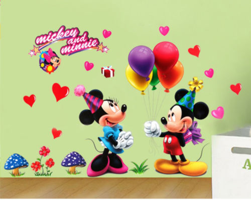 Mickey Mouse Clubhouse Minnie Wall Sticker for Baby Nursery