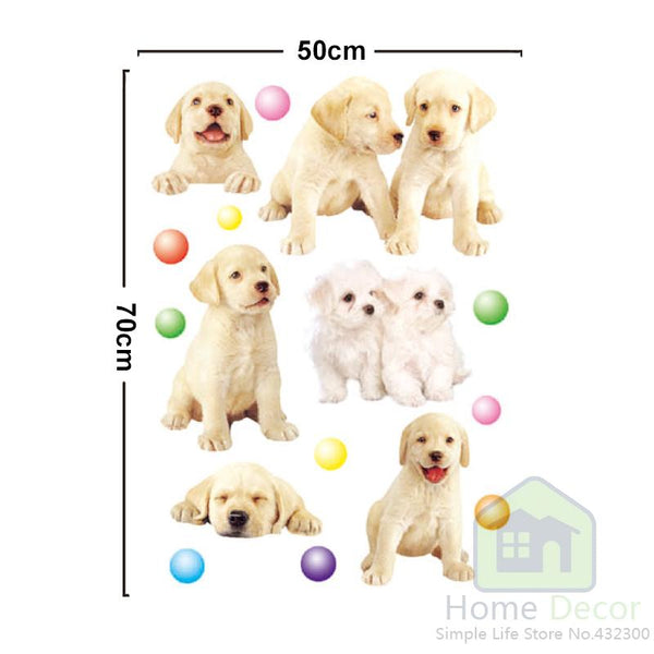Labrador Puppies wall decal