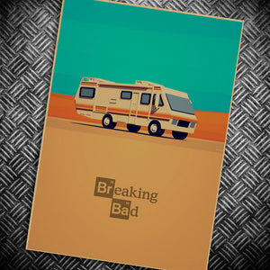 Breaking Bad retro Kraft Paper Wall Sticker Home decor 42*30 cm