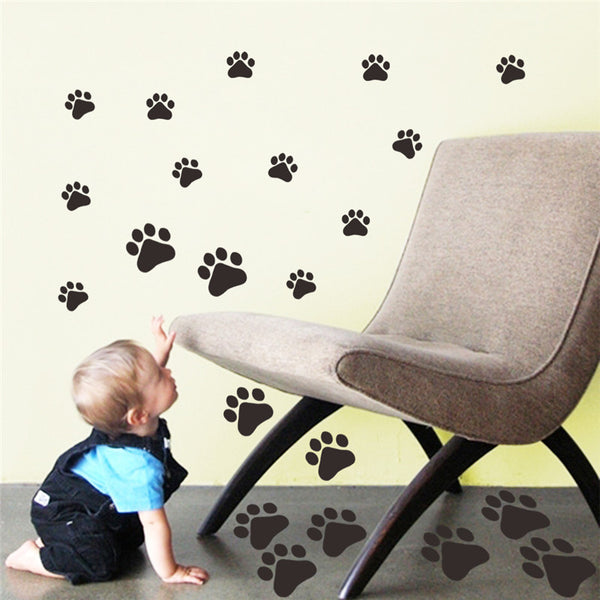 Dog Cat Paw Print sticker for kids room  Wall Stickers DIY