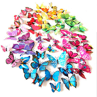 Butterfly Wall Stickers 3D PVC Colorful Simulation12PCS/SET