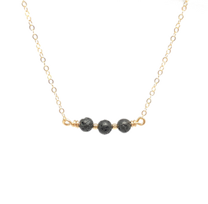 Gold Filled Lava Stone Aromatherapy Necklace