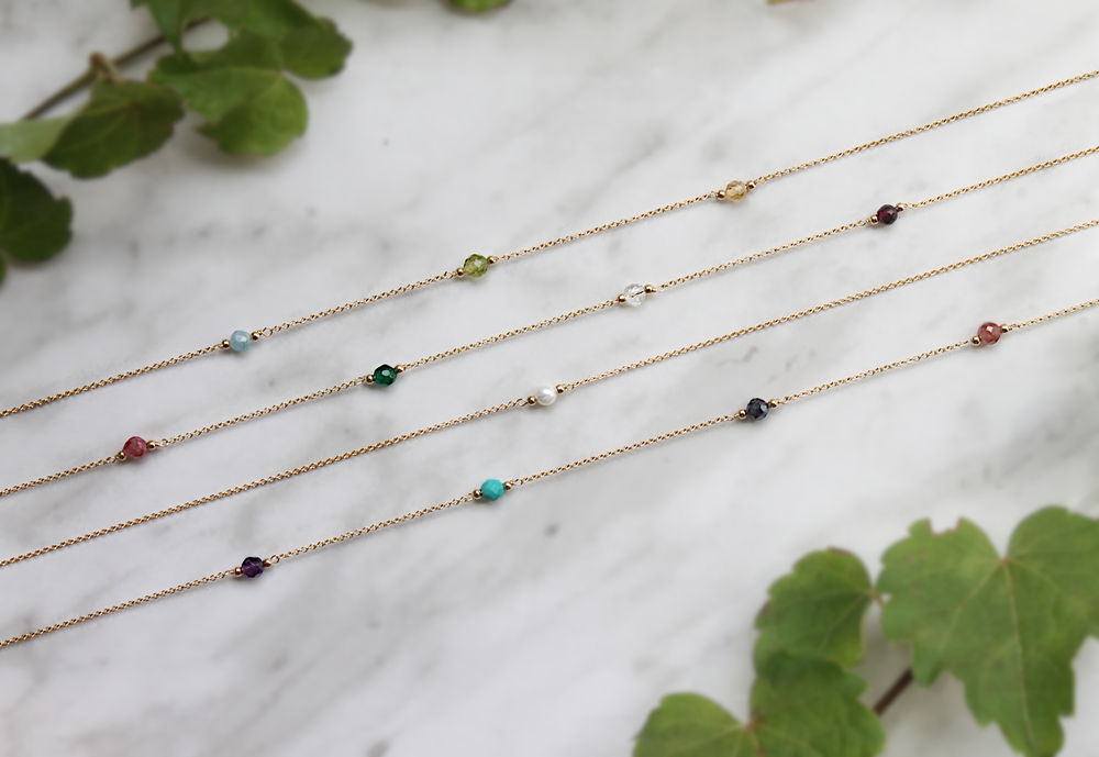 gold filled birthstone necklaces