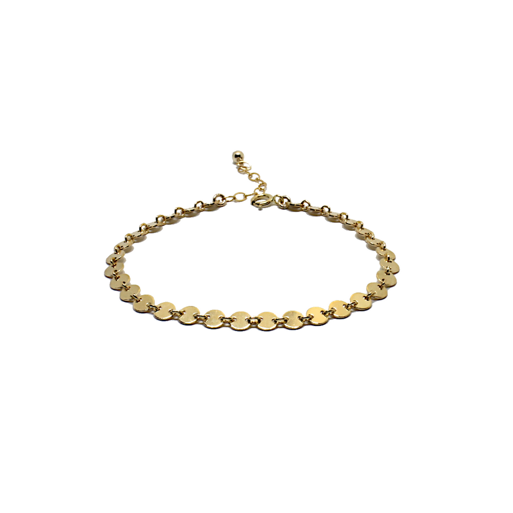gold filled coin bracelet