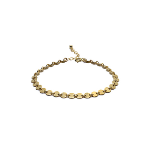 gold filled coin anklet