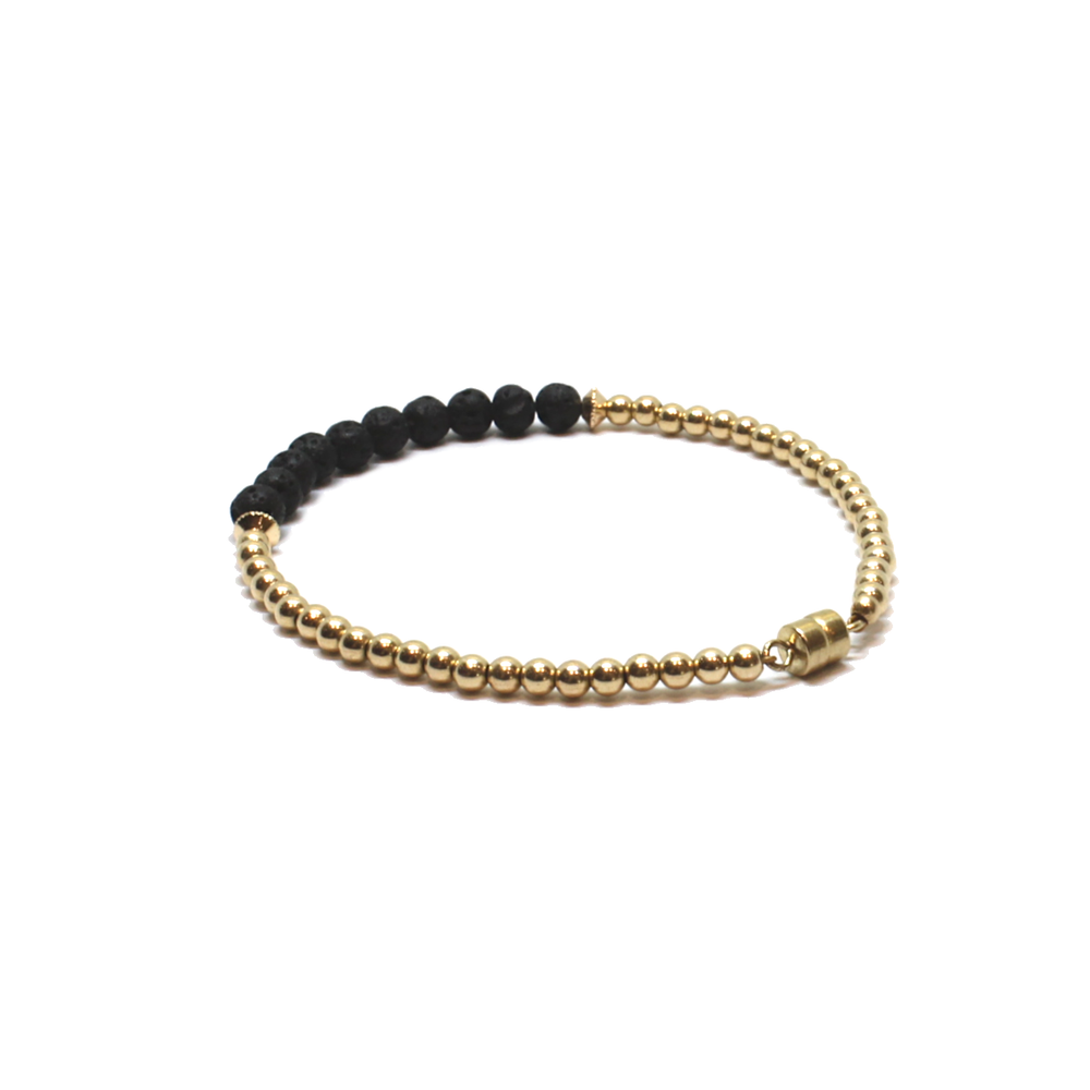 gold and lavastone find your calm bracelet new clasp
