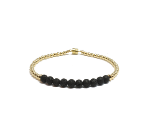 gold and lavastone find your calm bracelet