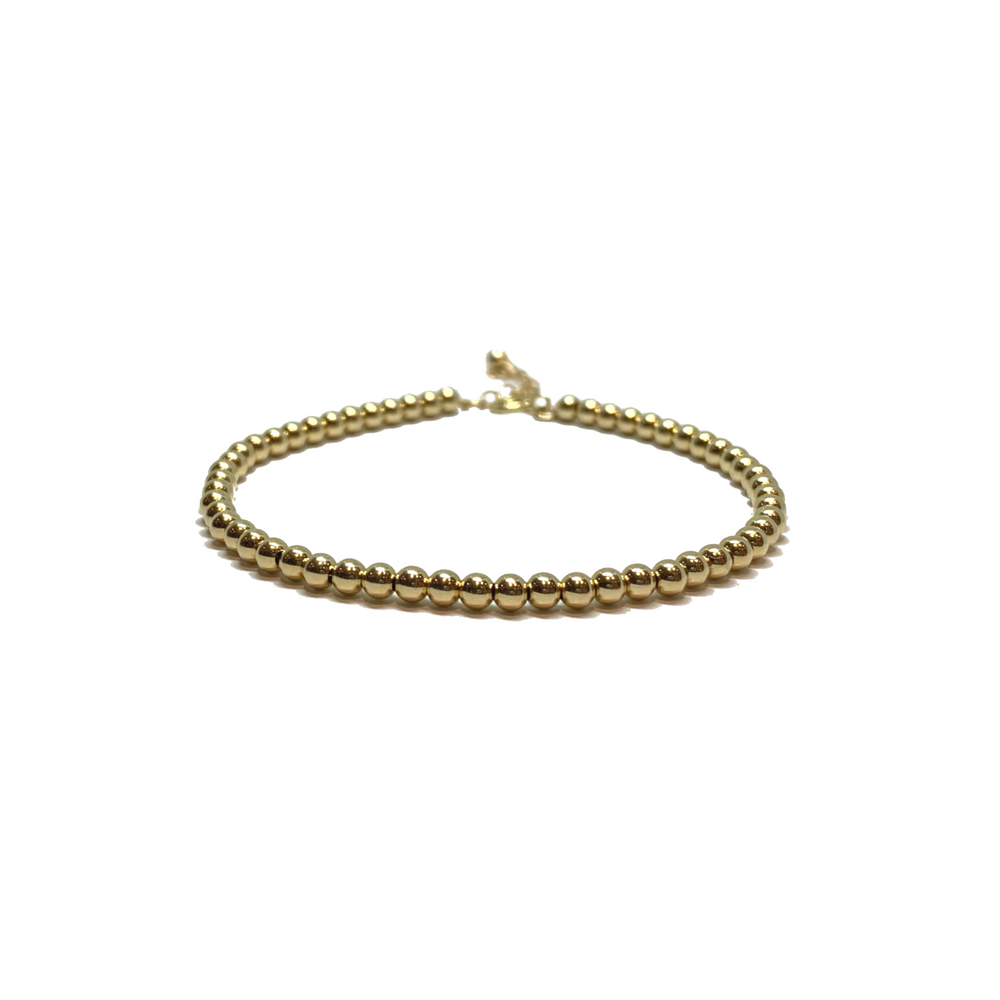 Beaded Bracelet - 14KT Gold