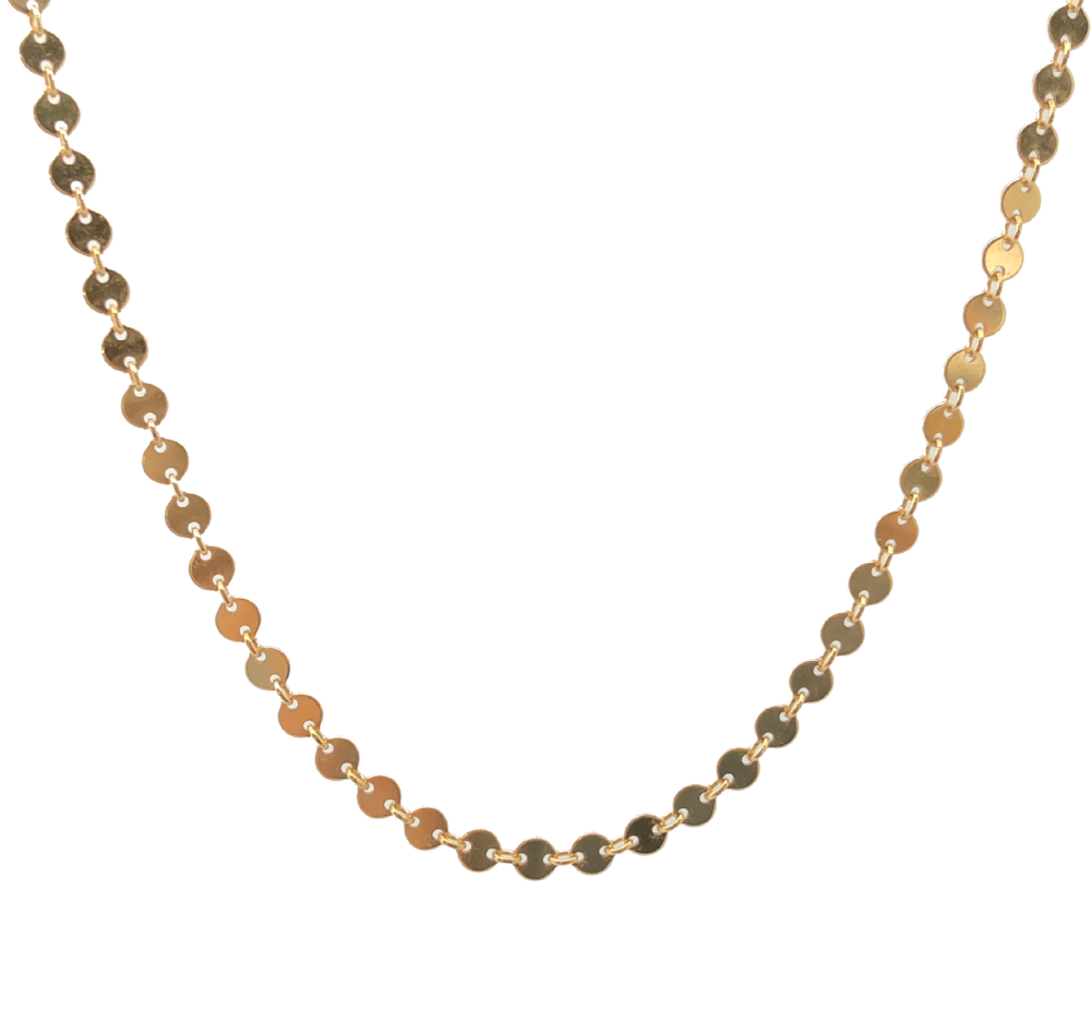 Gold filled Coin Necklace Choker