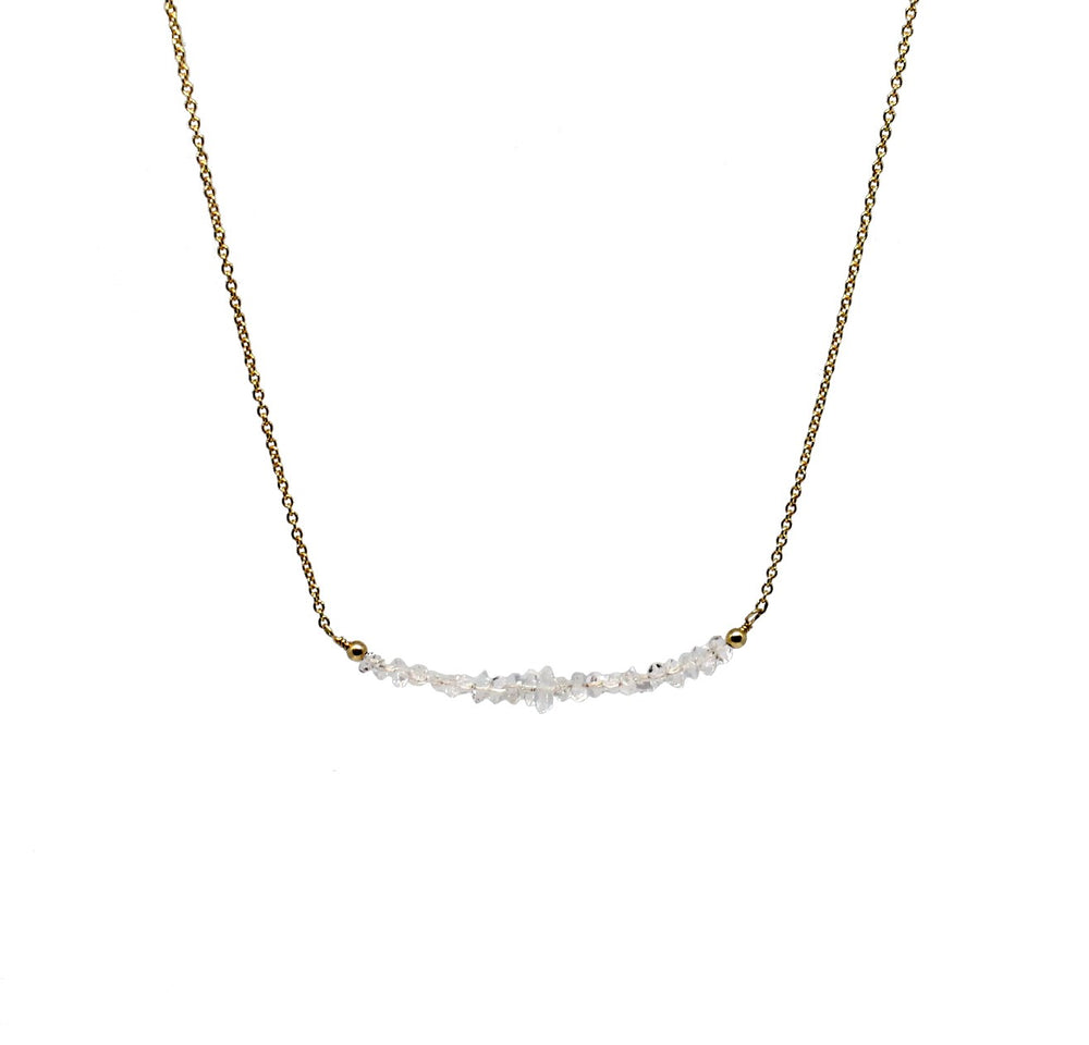 herkimer quartz bar necklace