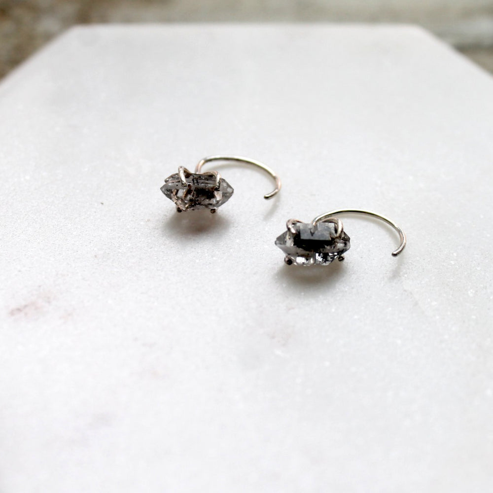 "Herkimer Quartz ""Diamond"" Earrings"