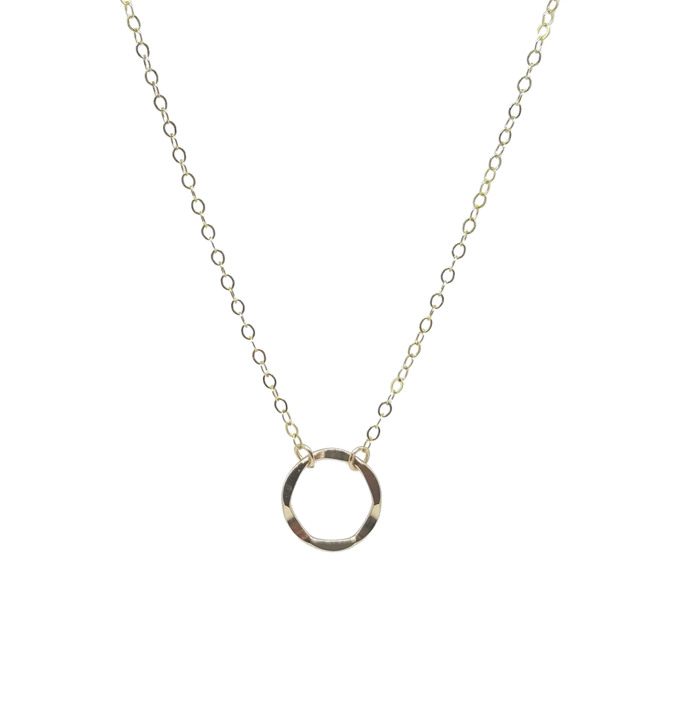 Gold circle short necklace by kind karma