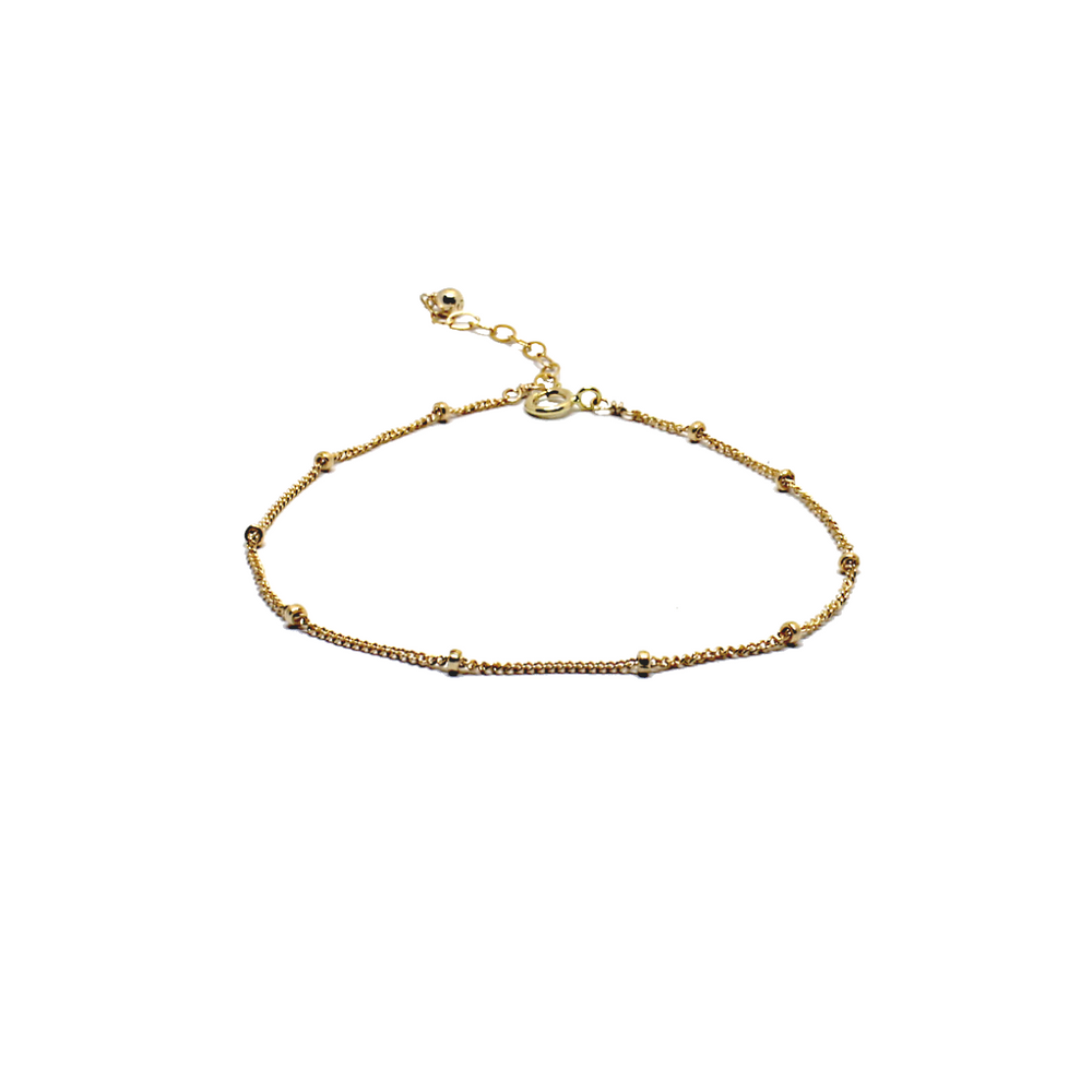 gold satellite chain bracelet