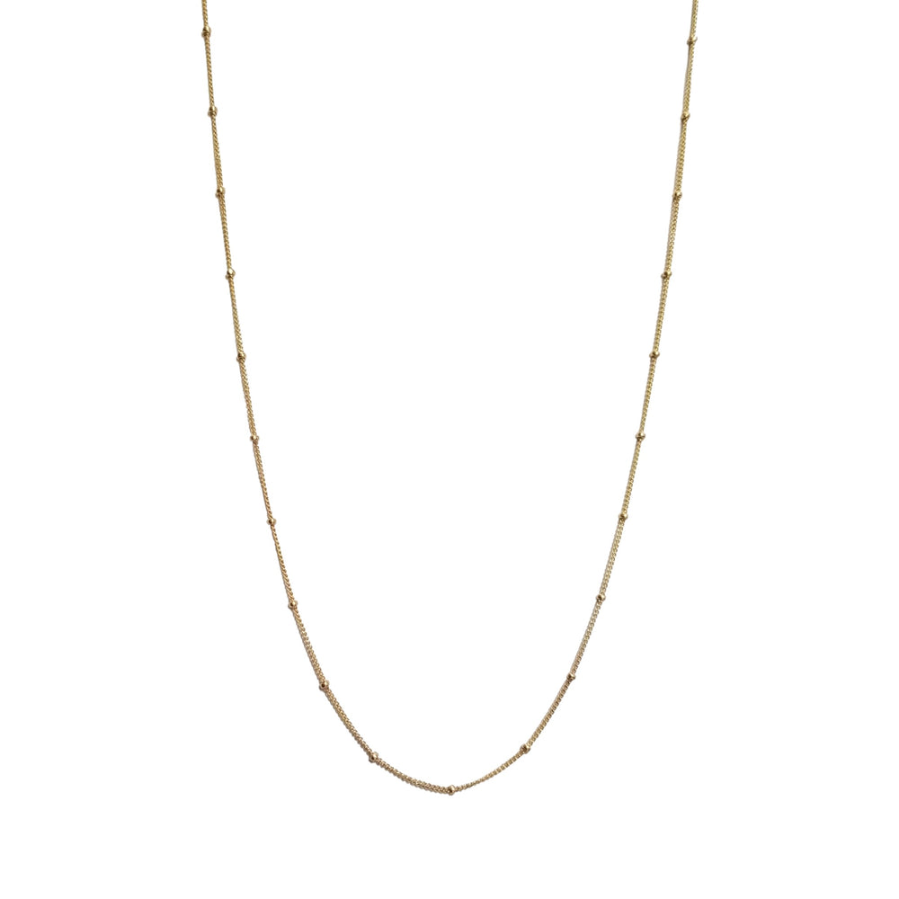 gold milestone necklace