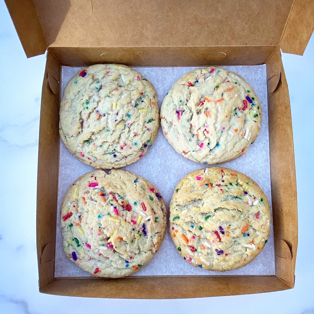 Box of Four Funfetti Cookies