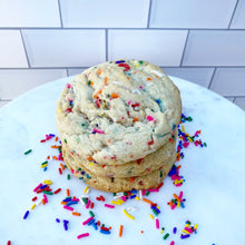 Load image into Gallery viewer, Box of Four Funfetti Cookies