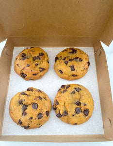 Box of Four Pumpkin Chocolate Chip Cookies